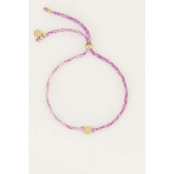 My Jewellery My Jewellery Touw Armband Klavertje