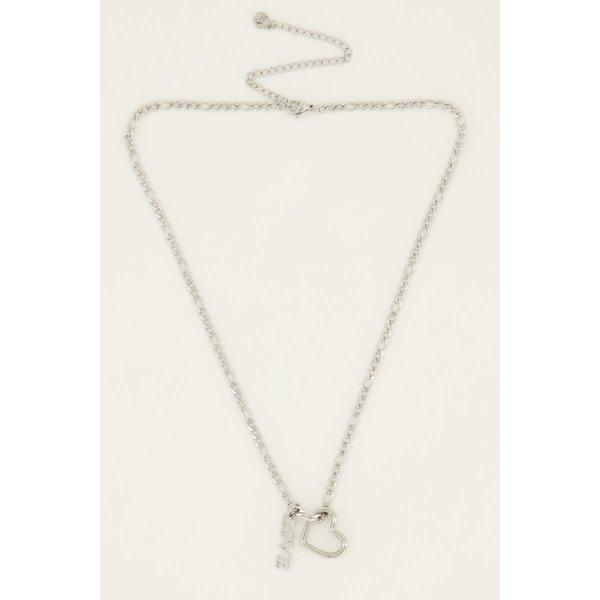 My Jewellery My Jewellery Ketting bedels hartje & love