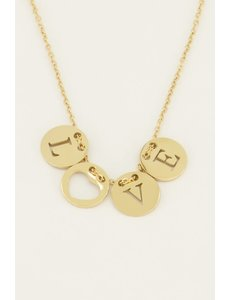 My Jewellery My Jewellery Ketting love rondjes