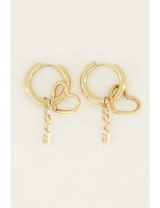 My Jewellery My Jewellery Oorringen bedels hartje & love