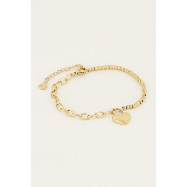 My Jewellery My Jewellery Armband hartjes slot