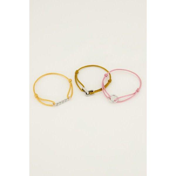 My Jewellery My Jewellery Spread the love set geel