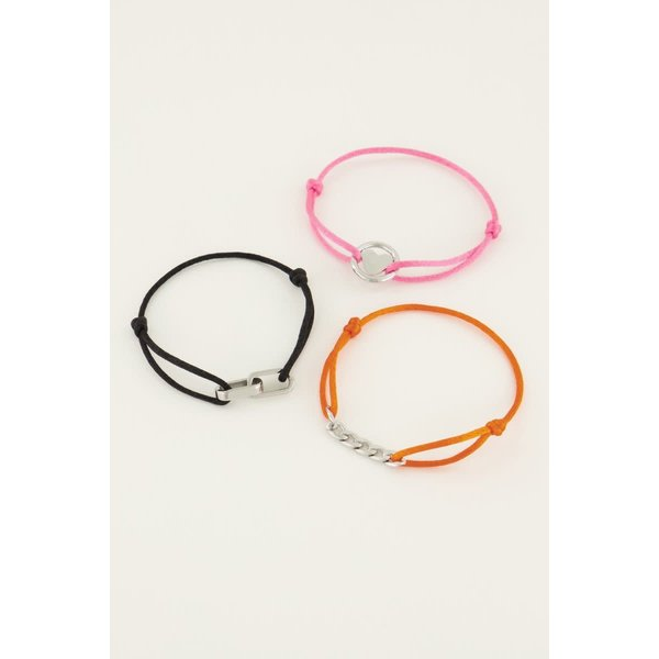 My Jewellery My Jewellery Spread the love set oranje