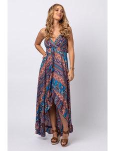 Gold & Silver - Lange jurk Lola blauw