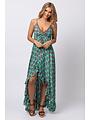 Gold & Silver - Lange jurk Lola turquoise