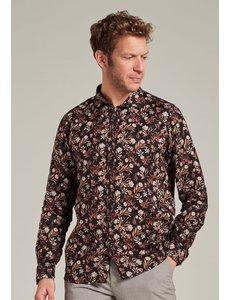 Dstrezzed Dstrezzed - Linnen blouse met kleine bloemenprint zwart