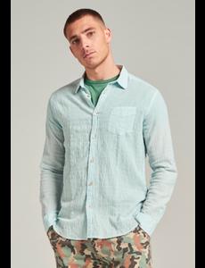 Dstrezzed Dstrezzed - Seersucker streep blouse groen/blauw