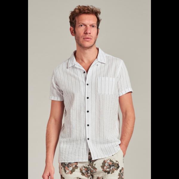 Dstrezzed Dstrezzed - Seersucker korte mouw blouse met streep
