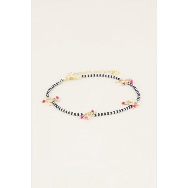 My Jewellery My Jewellery - Enkelbandje kraaltjes hangers