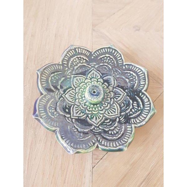 Jolanda Nabben Wierookhouder Lotusbloem Groen-Blauw