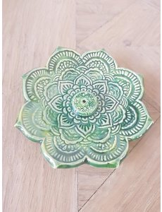 Jolanda Nabben Wierookhouder Lotusbloem Groen-Geel