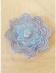 Jolanda Nabben Wierookhouder Lotusbloem Turquoise-Paars