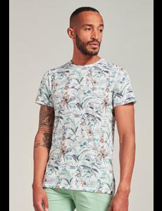 Dstrezzed Dstrezzed - T-shirt Naps Melange Jersey Postcard allover Wit
