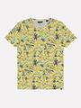 Dstrezzed Dstrezzed - T-shirt Naps Melange Jersey Postcard allover Geel