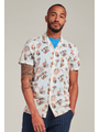 Dstrezzed Dstrezzed - Blouse Resort Shirt Tropical cruise Voile wit
