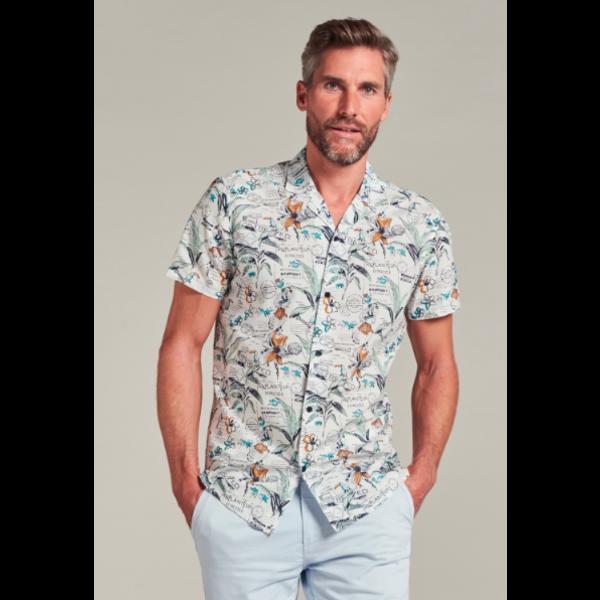 Dstrezzed Dstrezzed - Blouse Resort Shirt High Summer Tropical Voile wit