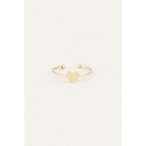 My Jewellery My Jewellery Ring hartje klein