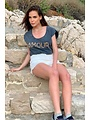 Gold and Silver Gold & Silver - T-shirt Amour grijs