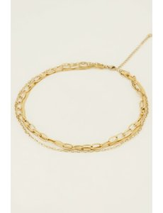 My Jewellery My Jewellery - Ketting drielaags schakels