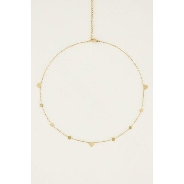 My Jewellery My Jewellery - Ketting rondje en hartje
