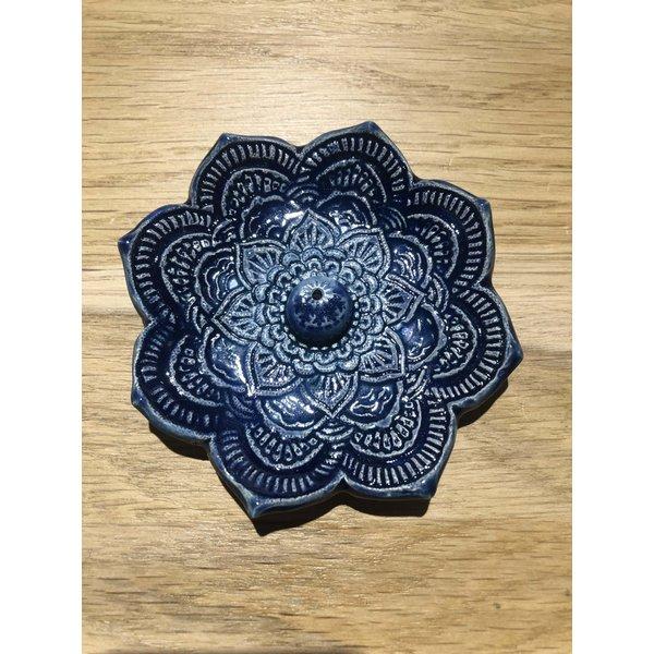 Jolanda Nabben Wierookhouder Lotusbloem Turquoise-Blauw