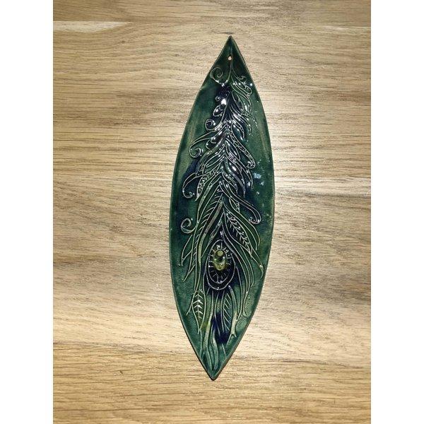 Jolanda Nabben Wierookhouder Pauwveer groen-blauw