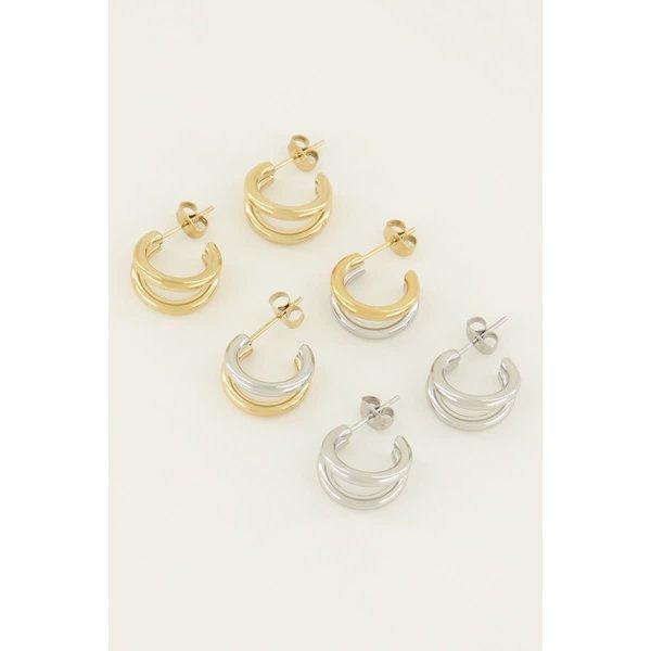 My Jewellery My Jewellery - Dubbele oorringen klein
