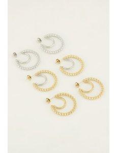 My Jewellery My Jewellery - Oorringen bolletjes dubbel