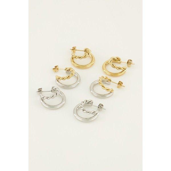 My Jewellery My Jewellery - Dubbele oorringen twist