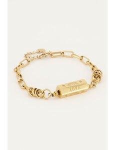My Jewellery My Jewellery - Schakelarmband met love bedel
