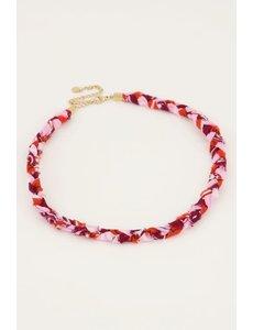 My Jewellery My Jewellery - Roze gevlochten ketting
