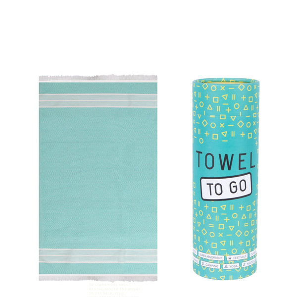 Towel to go Towel to Go Oasis turquoise met geschenk box