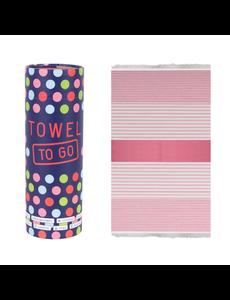 Towel to go Towel to Go Bali fuchsia/pink met geschenk box