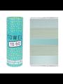 Towel to go Towel to Go Bali turquoise/groen met geschenk box