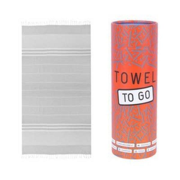 Towel to go Towel to Go Malibu grijs met geschenk box