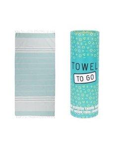 Towel to go Towel to Go Malibu turquoise met geschenk box