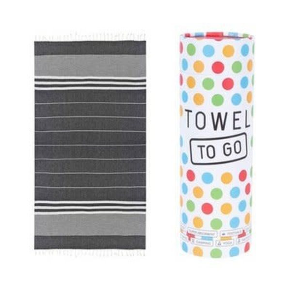 Towel to go Towel to Go Malibu zwart met geschenk box