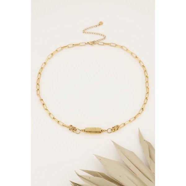 My Jewellery My Jewellery - Schakelketting met love bedel