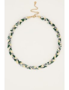 My Jewellery My Jewellery - Mintgroene gevlochten ketting