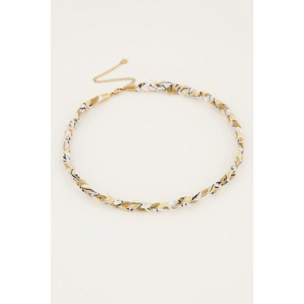 My Jewellery My Jewellery - Beige gevlochten ketting