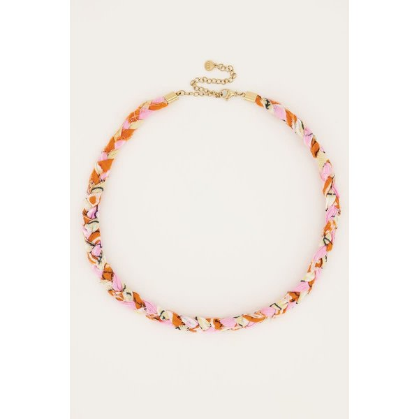My Jewellery My Jewellery - Oranje gevlochten ketting