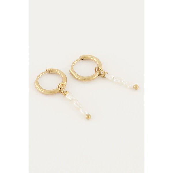 My Jewellery My Jewellery - Oorbellen drie parels