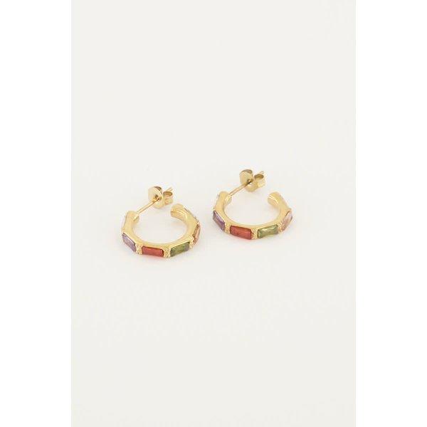 My Jewellery My Jewellery - Oorringen met gekleurde steentjes