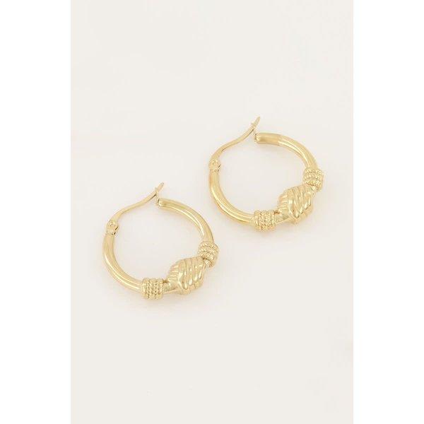 My Jewellery My Jewellery - Oorringen groot knoopeffect