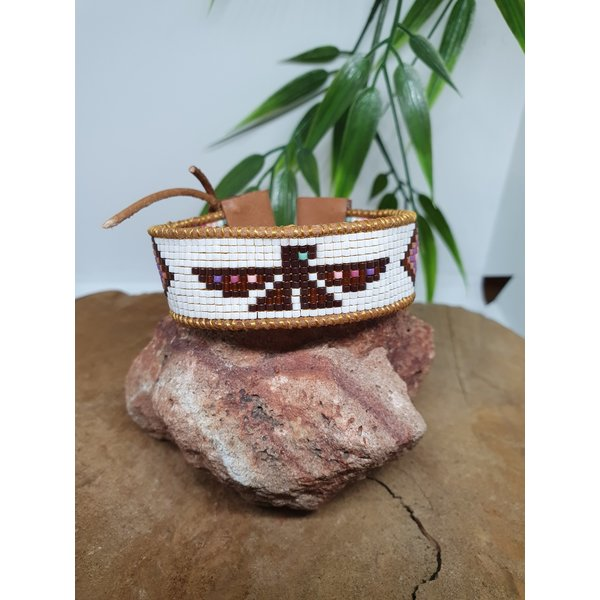 PerlasLindas Handgemaakte armband Paars Roze Miyuki Thunderbird 11