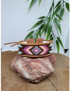 PerlasLindas Handgemaakte armband Paars Roze Miyuki 11