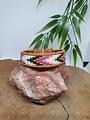 PerlasLindas Handgemaakte armband Paars Roze Miyuki 7 met lederen rand