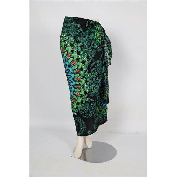 Uit den Vreemde Sarong Dark Green Mandala