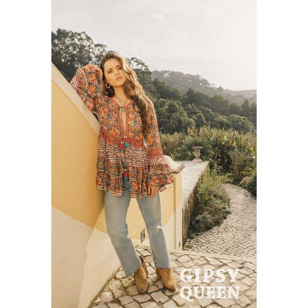 Gypsy Queen - Kleurrijke Tuniek met bloem motief