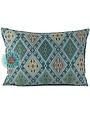 Esperanza Deseo Kussen Kelim turquoise en wit 50x70